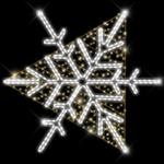 Светодиодный мотив Снежинка большая