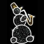Светодиодная консоль Снеговик с саксофоном