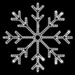 Светодиодный мотив Снежинка средняя