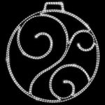 Светодиодный мотив Шар с узором