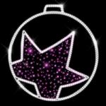 Светодиодный мотив Шар со звездой