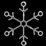 Светодиодный мотив Снежинка малая